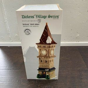 "Dept 56 Dickens Village ""Dickens' Clock Tower"" #40"